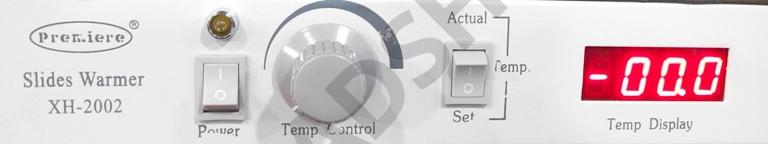 Tableau de contrôle de la plaque chauffante