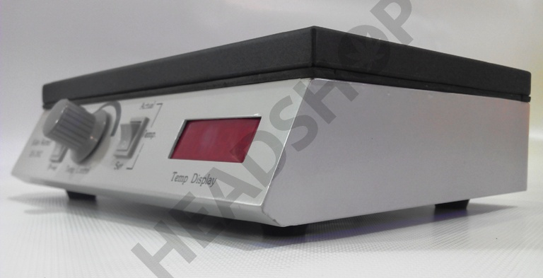 Plaque digitale chauffante pour la purge du BHO