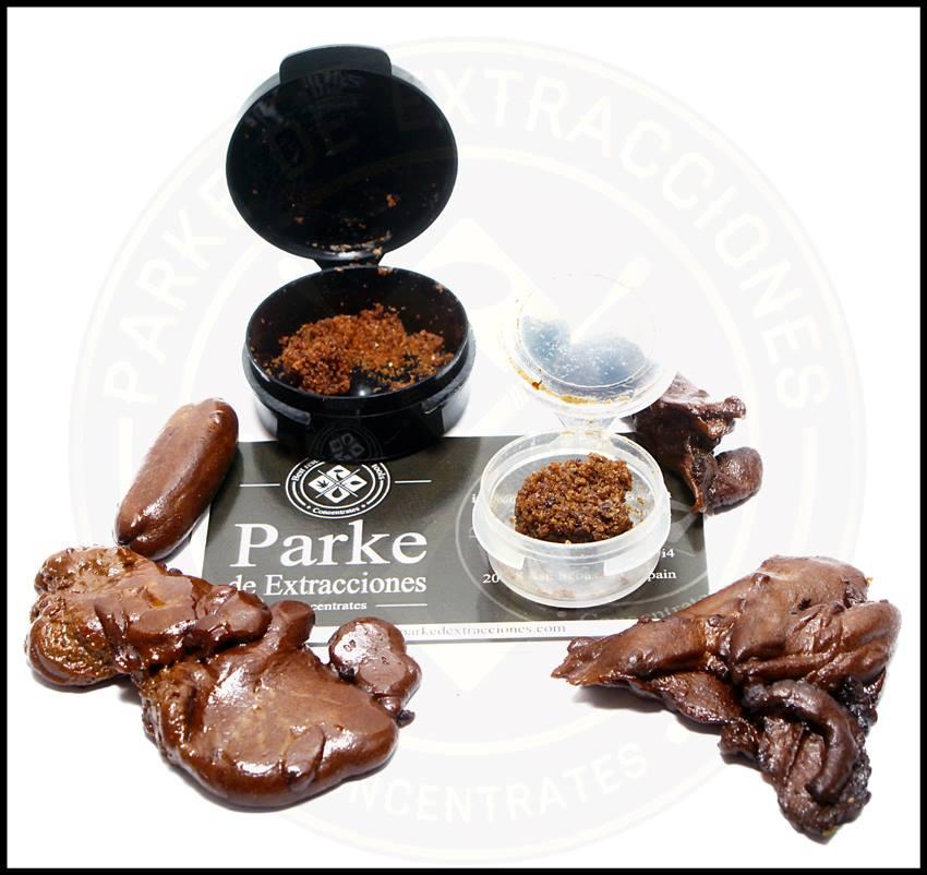 Différents types de haschisch réalisés par Parke De Extracciones avec Pure Extracts Bags