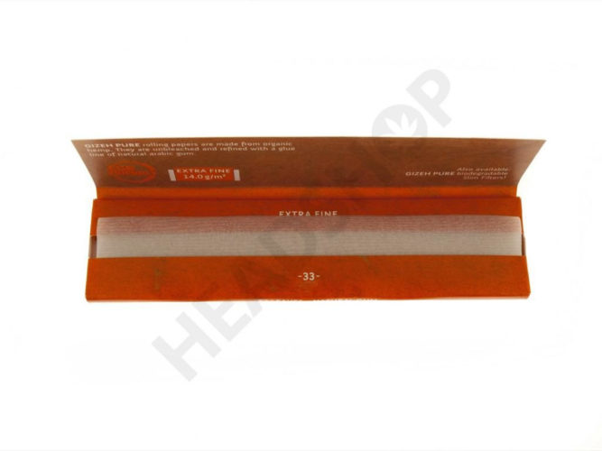 Gizeh Pure King Size Slim, papier 100% organique en format King Size